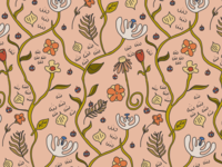 Whimsical Floral Pattern