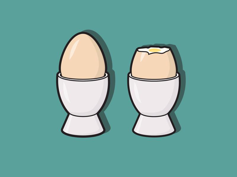 Egg Cravings bold lines design graphic design eggs boiled eggs vector illustration adobe illustrator