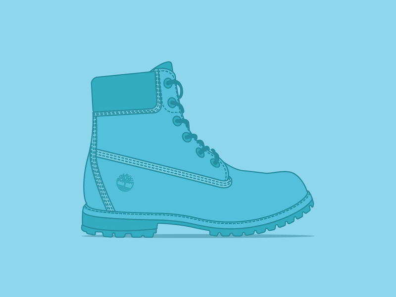 Timberland turquoise blue timberland boot shoes adobe illustrator cc graphic design vector design illustration adobe illustrator