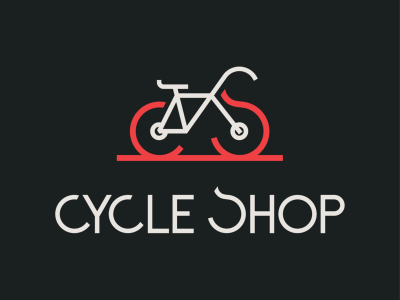 Cycle Shop bike cycle shop cycle logo cycling cycle wordmark logo logomark icon typography branding lettering brand and identity logotype logo adobe illustrator cc graphic design vector design illustration adobe illustrator