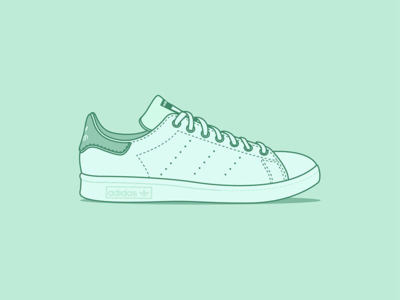 Stan Smiths stan smith adidas sneakers trainers adobe illustrator cc graphic design vector design illustration adobe illustrator