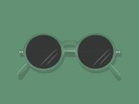 Green Sunglasses green shades glasses summer sun sungalsses adobe illustrator cc graphic design vector design illustration adobe illustrator
