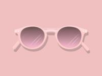 Pink Sunglasses pink glasses shades summer sun sun glasses adobe illustrator cc graphic design vector design illustration adobe illustrator