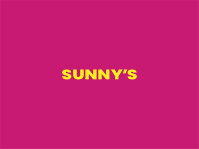SUNNY'S Fruit Alcohol Pub alcohol branding pub typography icon illustration vector minimal logo branding