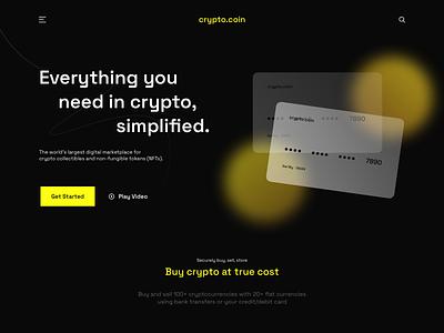 Crypto.coin NFT Website crypto website nft bitcoin crypto flat website ux ui