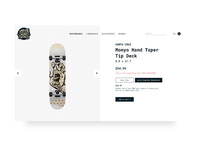 Urban Skate Decks store web design skateboard web design e commerce web website minimal ui logo illustration flat design ui ux design
