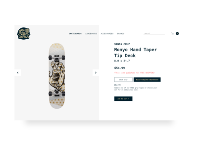Urban Skate Decks store web design