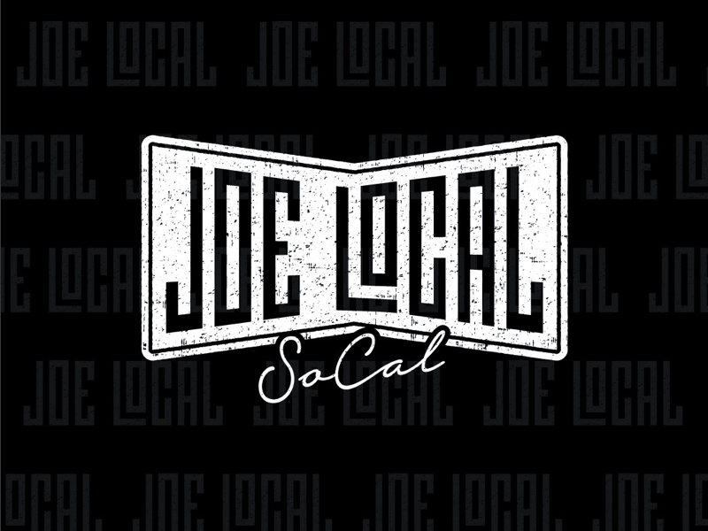 Joe Local socal logo branding apparel