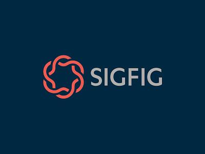 Sigfig Logo logo identity flower blossom spirograph financial