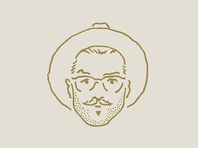 Self Portrait mustache glasses people person head face illustration portrait