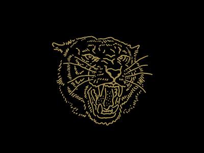 El Tigre 2.0 cat animal gold illustration tiger