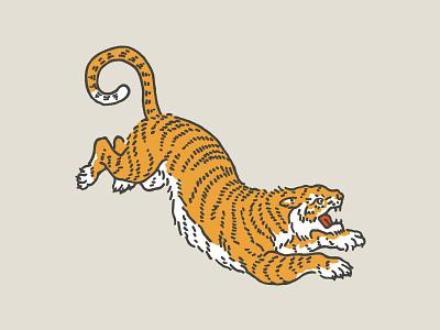 Tiger tattoo cat animal illustration tiger