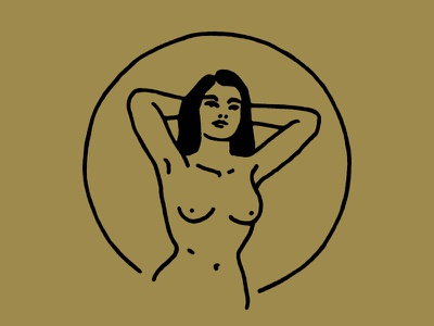 Lady of the Endless Summer gold summer babe lady illustration