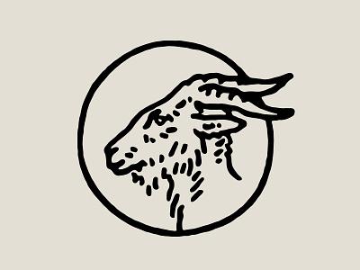 Goat Head illustration animal goat