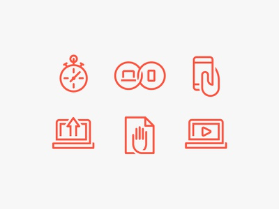 Loop Icon Set setup monitor phone gesture pair play print mobile computer power iconography icon