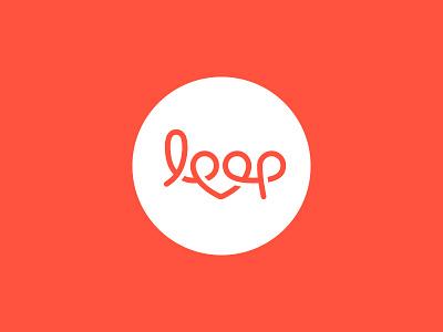 Loop logo share love heart script brand branding identity logo loop