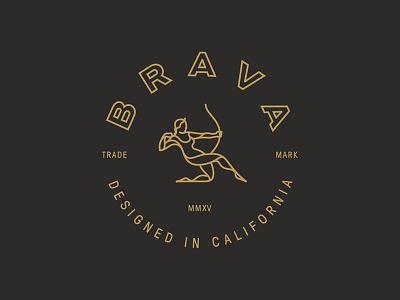 Brava Logo badge artemis archer branding identity icon logo