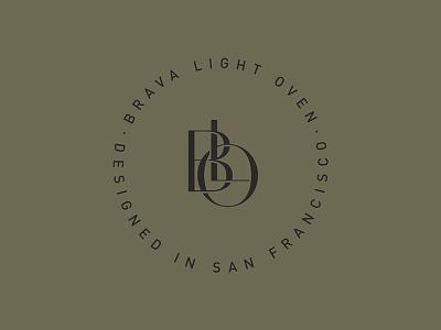 Brava Monogram badge branding identity typography logo monogram