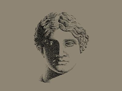 Venus pointillism illustration venus