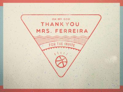 Thanks to mrs ferreira