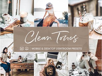 Clean Tones - Mobile & Desktop Lightroom Presets warm mobile lightroom presets clean tones lightroom presets
