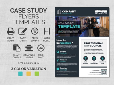 Case Study Flyer Template project professional presentation portfolio marketing informational flyer editorial file document creative design flyer corporate flyer clean flyer catalog business flyer brief flyer annual report agency a4