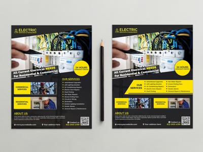 Electrician & Electrical Services Flyer Flyer Template branding advertising flyer business branding flyers business flyer flyer design advertising real estate flyer promote flyer marketing flyer flyer template advertising flyer