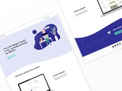Illustrated Portfolio Homepage Design