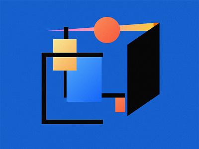 Cubicle Blues geometric illustration geometric design illustration illustrator experimental design vector graphic design digital art