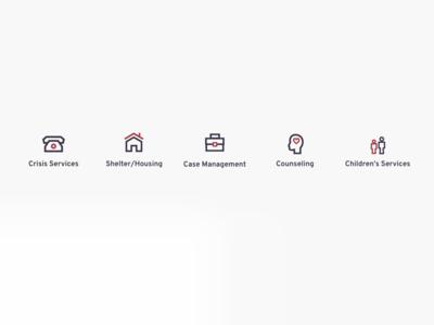 Nonprofit Services Icon Set