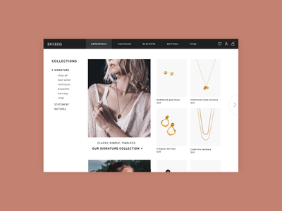 eCommerce Landing Page daily 100 challenge daily 100 daily ui challenge dailyuichallenge web design online shopping design jewelry shop jewelry store ui design ecommerce ui online shop ecommerce shop shop landing page ecommerce landing page landing page ecommerce dailyui 003 dailyui daily ui