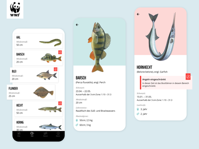WWF Nautical Chart minimalistic minimal wwf fishing ios illustration enviroment fish nature clean uidesign ui app