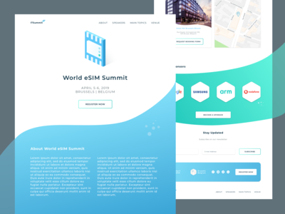 World eSIM Summit landing page.