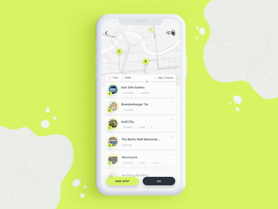 Rideguide App location map animation map buttons app animation app design ux design tourism audi ux after effects video ios design clean app ui motion animation