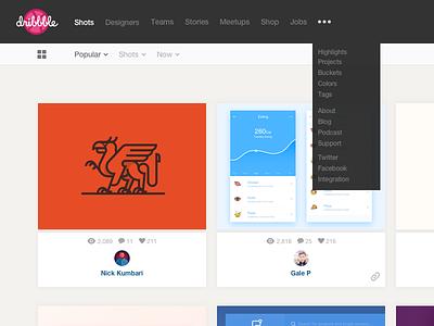 Dribbble subtle redesign clean design flat shots tiles web user interface ui dribbble redesign
