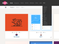 Dribbble subtle redesign