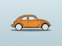 Vw beetle illustration wouterjongeneel