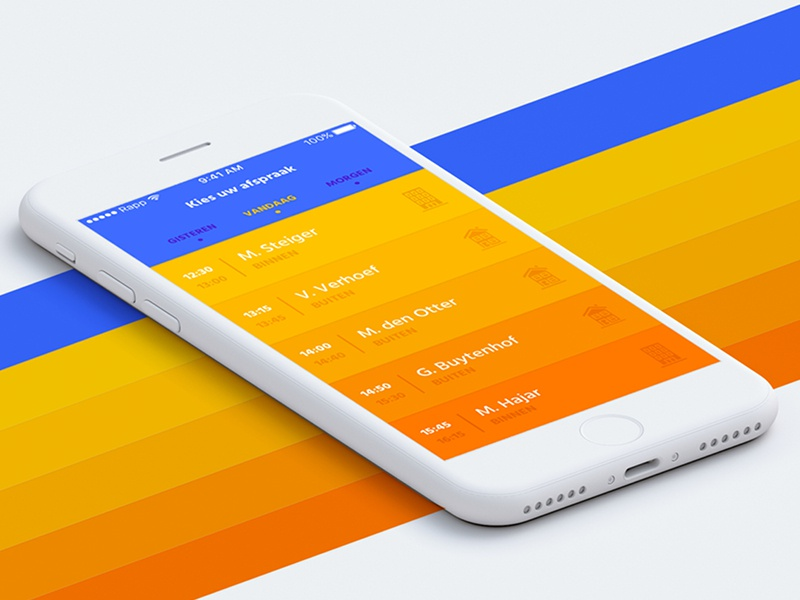 Rapp - Agenda gradient iconography interface app ux ui mobile ios design branding