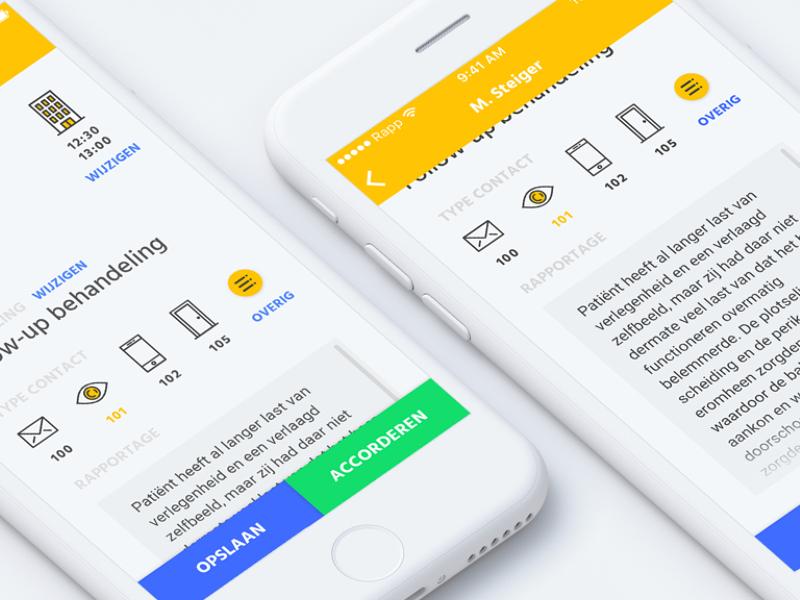 Rapp - Report iconography ux ui mobile ios interface design app