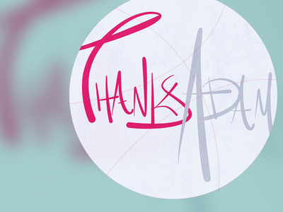 Hi Dribbble! illustration abstract circle fun lettering thank you