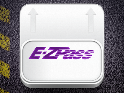 E-ZPass App Icon brand identity icon ios photoshop texture prototype graphic design