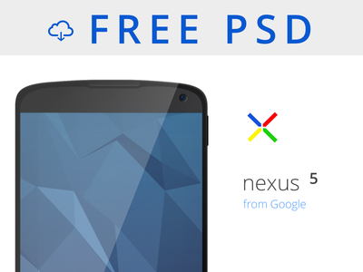 Nexus 5 Mockup PSD Download psd freebie download minimal template android free google nexus design mockup fun
