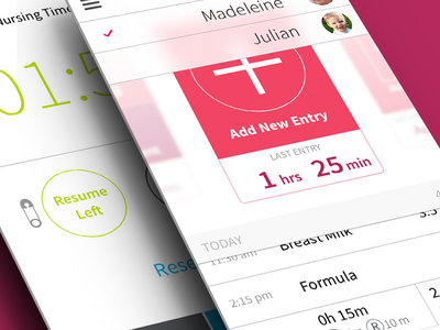 Total Baby App Redesign redesign iphone ios7 flat app ux interface minimal