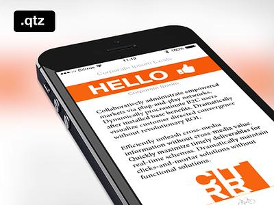 Quartz Composer Demo (my first one!) app ios iphone origami minimal animation prototype interface template quartz composer