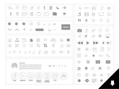 UPDATED! iOS Icons: Natives and Basics (for Sketch app) download free fun template freebie design sketch icons ui interface ux ios8