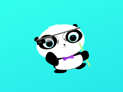 Little Panda icon illustration character panda fun design sketch app ios app