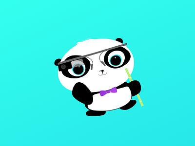 Little Panda icon illustration character panda fun design sketch app ios app