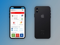 Mobile myBYUI Portal iPhone X Mockup & Prototype