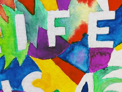 Life is A Team Sport jointogetherpdx watercolor lettering