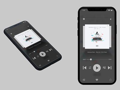 Music Interface - Daily UI ui graphic design user interface iphonex apple design ios app music app music app ui interface design dailyui009 dailyui